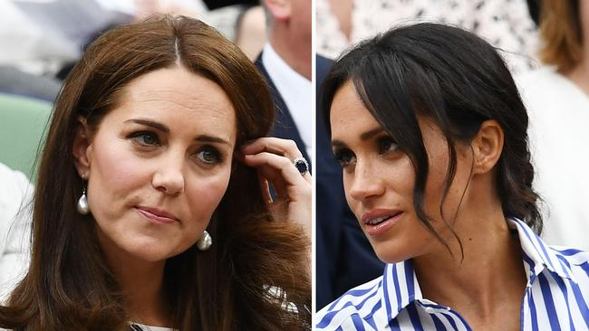 Rumours of a rift between Kate (left) and Meghan have swirled for months now. Picture: Getty