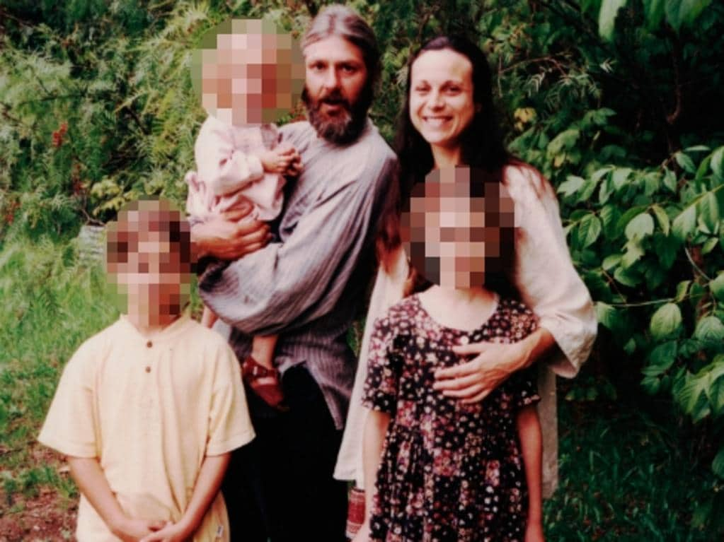 Ms Cruzado and her family during their time in the Twelve Tribes community in Picton in 2000.