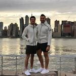 "Ian Thorpe and boyfriend Ryan Channing commit the cardinal sin of couple dressing... ""Matchy matchy in NYC."" Picture: Ryan Channing / Instagram"