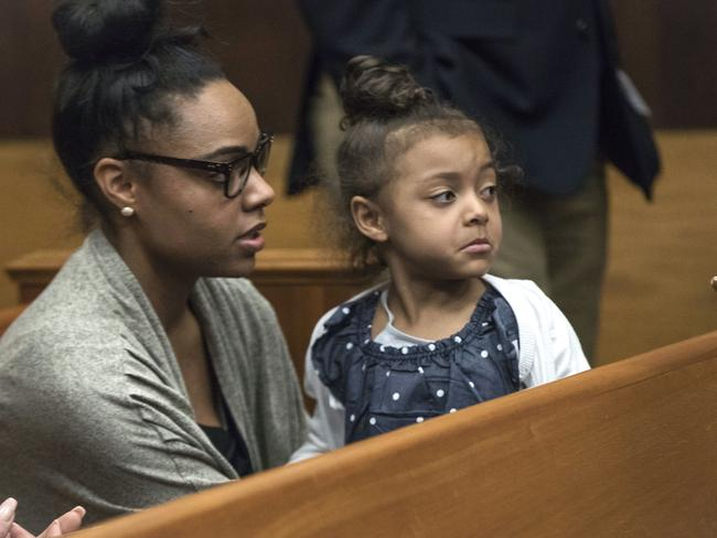 Shayanna Jenkins-Hernandez and four-year-old daughter Avielle.