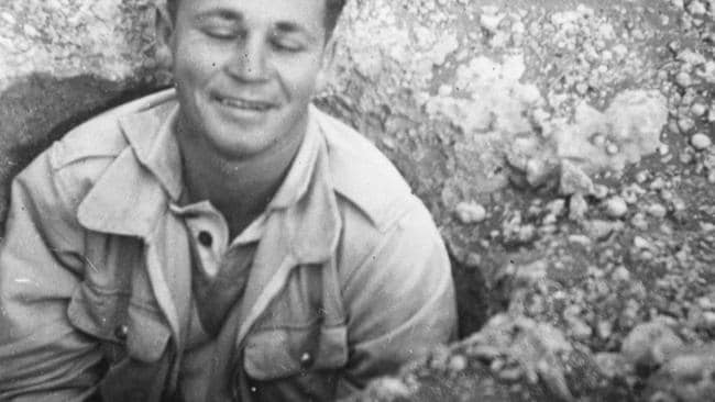 An Australian sailor in a blowhole near the atomic bomb test site at Maralinga in the 1950s. Picture: Robin Craig