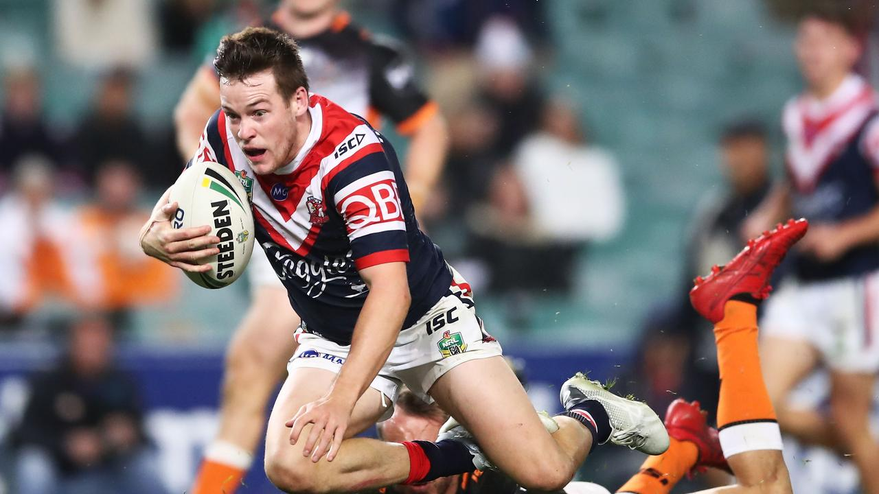 Luke Keary in action against the Tigers.