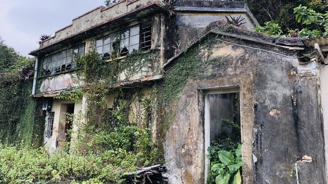 'Ghost island' is tiny, lush, green island that is peppered with decomposing homes. Picture: Supplied