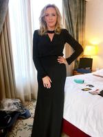 "Rebecca Gibney ... ""Ok after HOURS , spanx, fake lashes, hair, face, gorgeous dress. Time to suck it in and hit the red carpet! #leavingroomlikeabombsite #logies #lookout"" Picture: Instagram"