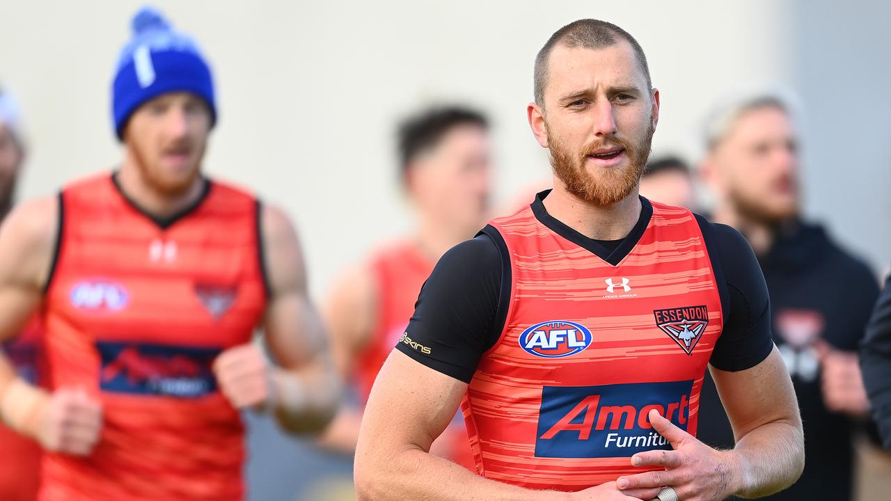 Essendon skipper Dyson Heppell fractured his ankle at training on Friday and will be forced to undergo surgery.