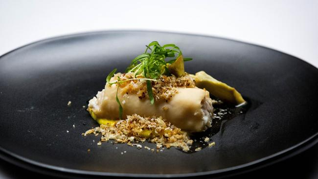 Harry Foster's kingfish and lobster cannelloni.