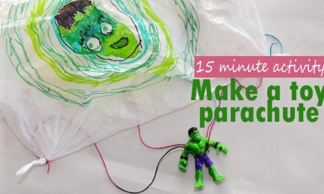 Parachuting toys! How to make a parachute for toys