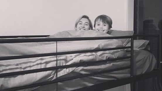 Maegan Luxa shared a photo of Alex and her son Elijah. Picture: Instagram.