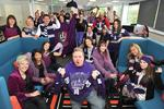Staff at public relations firm PPR show their support for the Dockers. Picture: Supplied.