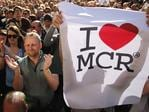 Crowds gather for a vigil in Albert Square, Manchester, England, Tuesday May 23, 2017, the day after the terror attack at an Ariana Grande concert. Picture: AP