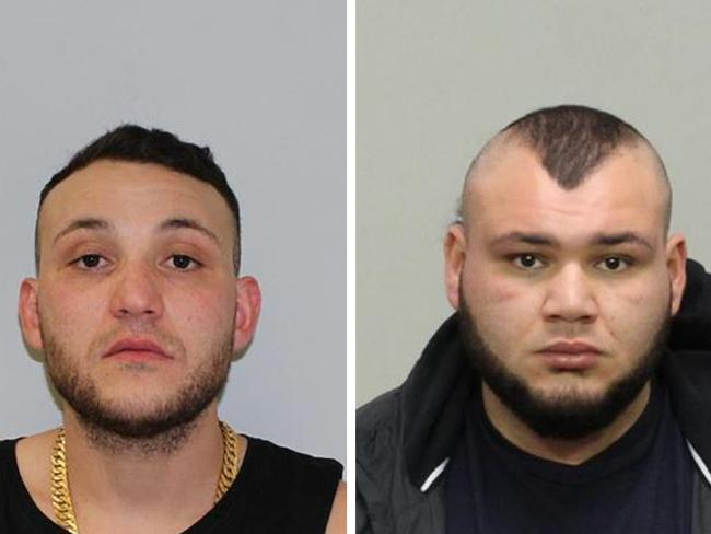 Abdullah El Nasher, 27, (L) appeared in court, and older brother Ali El Nasher, 28, (R) is still wanted by police. Picture: AAP/Victoria Police