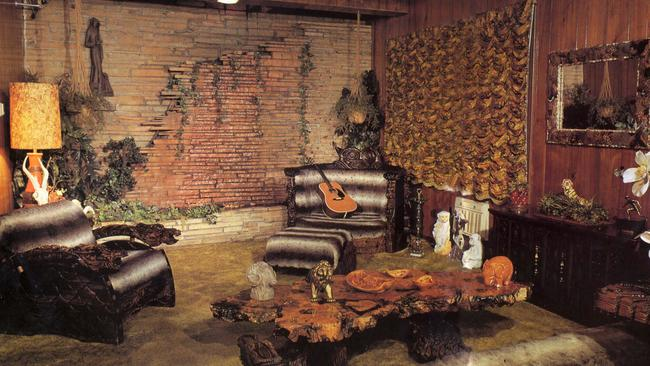 The Jungle room at Graceland. Picture: Supplied