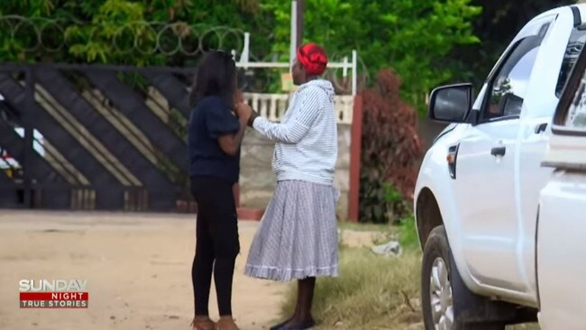 Ms Prangs speaks to Elizabeth, the woman she believes is her biological mother
