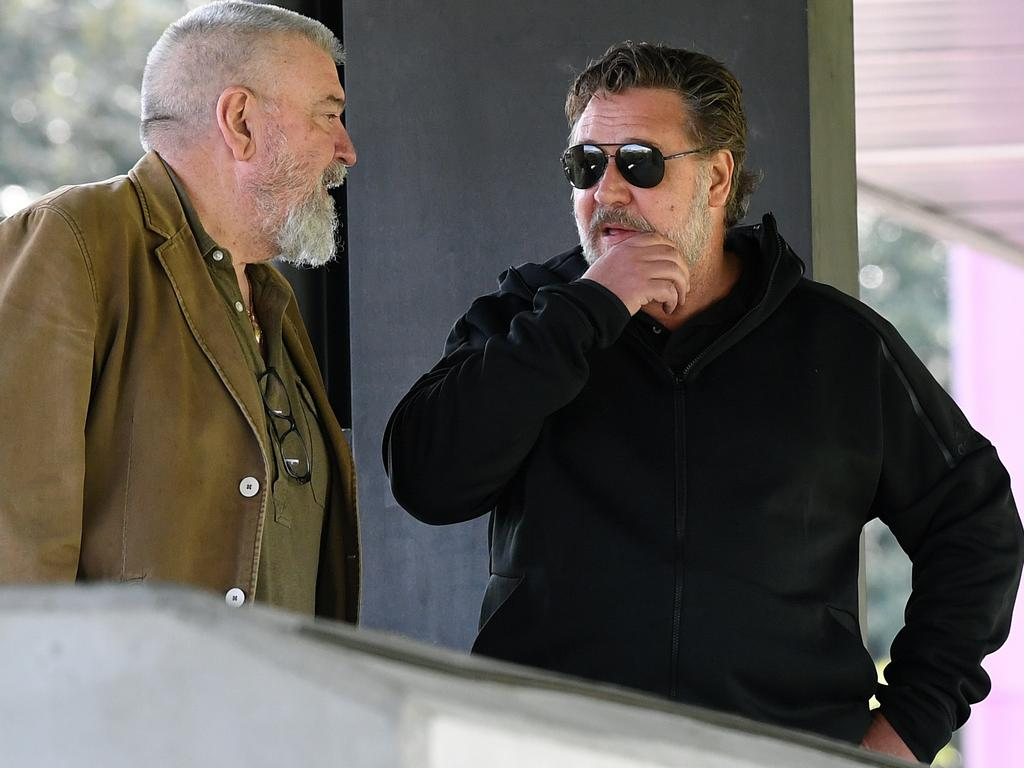 Shane Richardson and Russell Crowe.