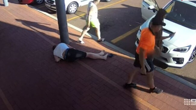 Mr Fletcher was knocked unconscious by the attack. Picture: 9 News