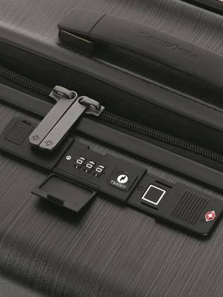Forget a lock and key, you'll need a fingerprint to get in to this suitcase.