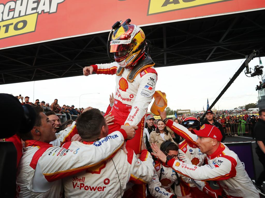 Scott McLaughlin celebrates. Picture Rohan Kelly