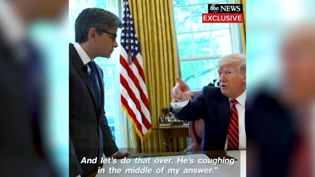 Trump kicks staffer out of room for coughing: 'I don't like that' (ABC)