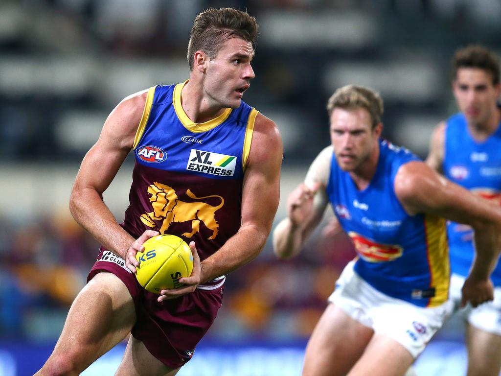 Jack Payne of the Lions will play his fifth AFL game. Picture: Jono Searle
