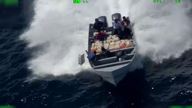 The US Coast Guard seized 1043kg of cocaine. Picture: US Coast Guard