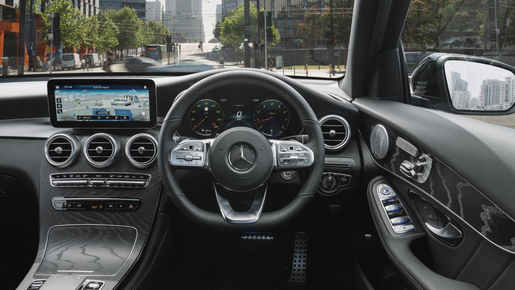 Mercedes hasn't given the GLC its latest infotainment set-up.