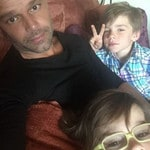 "Ricky Martin enjoys downtime with his boys ... ""My everything."" Picture: Instagram"