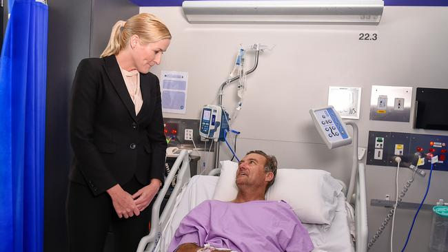 Mr Parker was taken to Princess Alexandra Hospital in Brisbane for treatment. Picture: AAP/Albert Perez