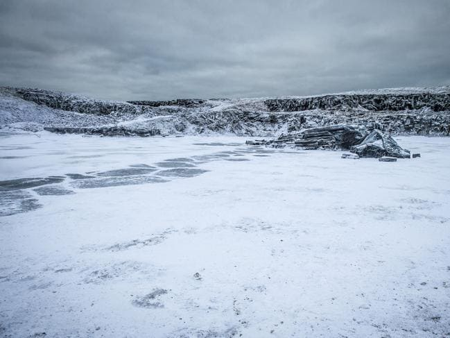 Icy landscape from the HBO/Foxtel drama, Game Of Thrones. Picture: Supplied/Foxtel