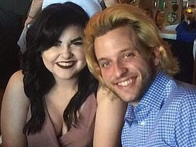 Kyle Yorlets with girlfriend of three years, Faith Gipson. Picture: Facebook