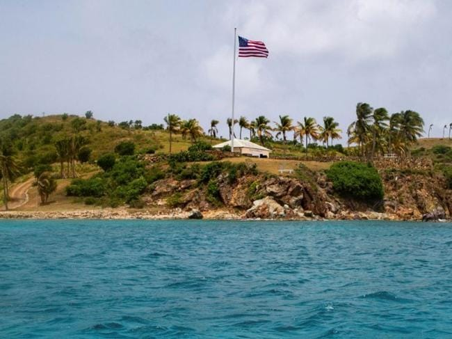 Little St. James Island in the US Virgin Islands, a property owned by Jeffrey Epstein. Picture: AP