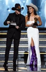 Donnie Wahlberg and Hailee Steinfeld at the 60th Annual GRAMMY Awards at Madison Square Garden on January 28, 2018 in New York City. Picture: Getty