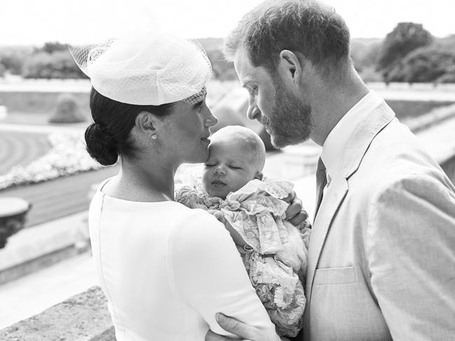The official christening shot has been liked more than 2.5 million times on Instagram. Picture: Chris Allerton / SUSSEXROYAL / AFP
