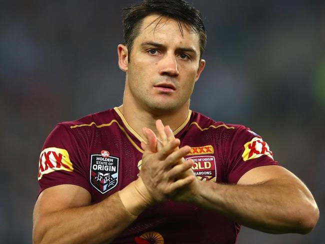 Queensland playmaker Cooper Cronk. His ankle injury was a source of considerable media coverage in the days leading up to Game One. Picture: Mark Kolbe/Getty Images