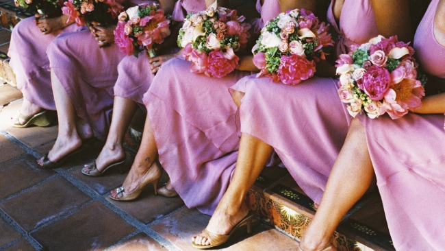 Bridesmaids all in a row. Photo: iStock