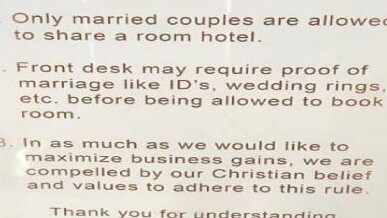 Hotel Slammed Online For Its Only Married Couples Room Sharing