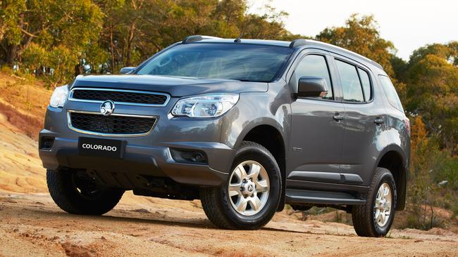 Uphill battle ... Holden Colorado 7 is being recalled because the rear seatbelts can lock when the car is on a hill.