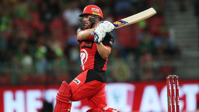 Finch in action for the Melbourne Renegades. Picture: Phil Hillyard