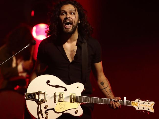 Charismatic frontman David Le'aupepe of Gang of Youths will be on stage at next year's Laneway. Picture: Scott Barbour/Getty Images for ARIA