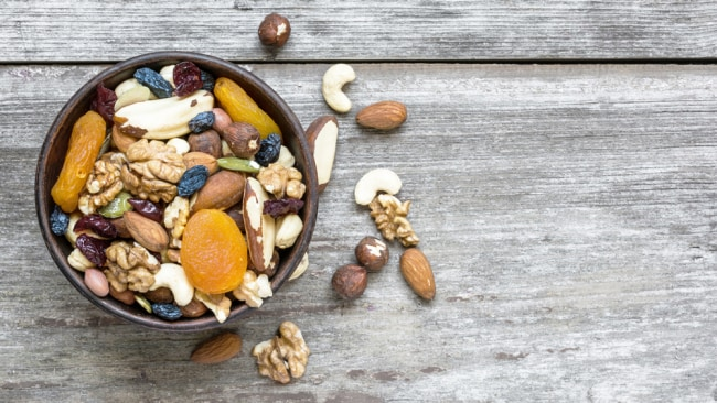 Create your own delicious trail mix. Source: iStock.