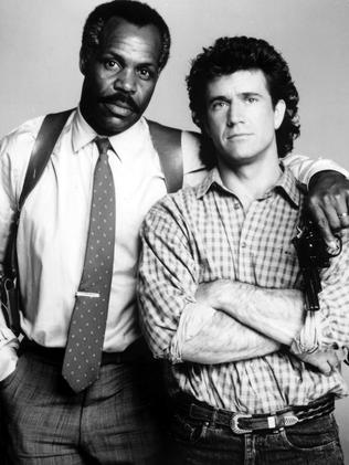 Gibson in his mulletted action-comedy prime with Danny Glover, as they appeared in Lethal Weapon 2.