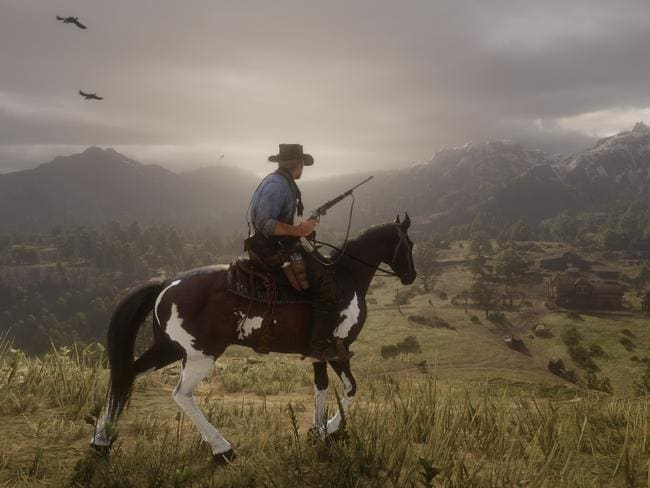A fistful of dollars and a quickdraw pistol is all you need to explore this brave new world. Picture: Red Dead Redemption II