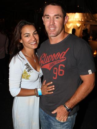 Brad Fittler with wife Marie Liarris