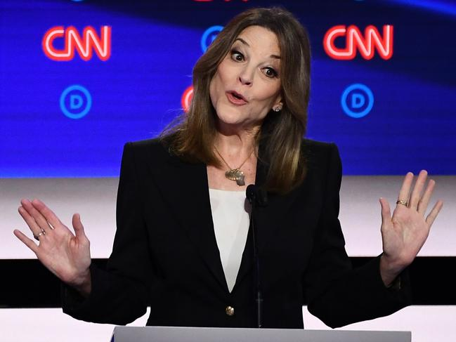 Democratic presidential hopeful US author and writer Marianne Williamson. Picture: AFP