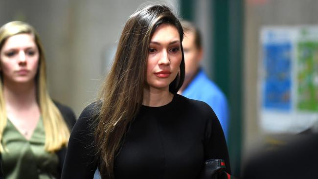 Jessica Mann arrives for the trial of Harvey Weinstein. Picture: Johannes Eisele / AFP
