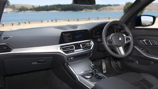 The 3 Series' cabin feels properly premium.