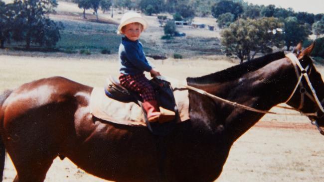 A family photo of jockey Hugh Bowman's childhood. Source: Bowman Family