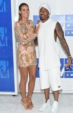 Heidi Klum and Nick Cannon attend the 2016 MTV Video Music Awards at Madison Square Garden on August 28, 2016 in New York City. Picture: AP