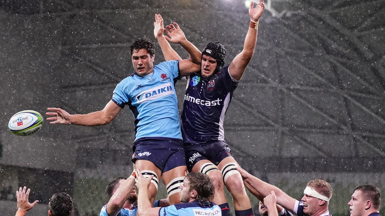 An NFL-style combine may kick off the resumption of the Super Rugby. (AAP Image/Scott Barbour)