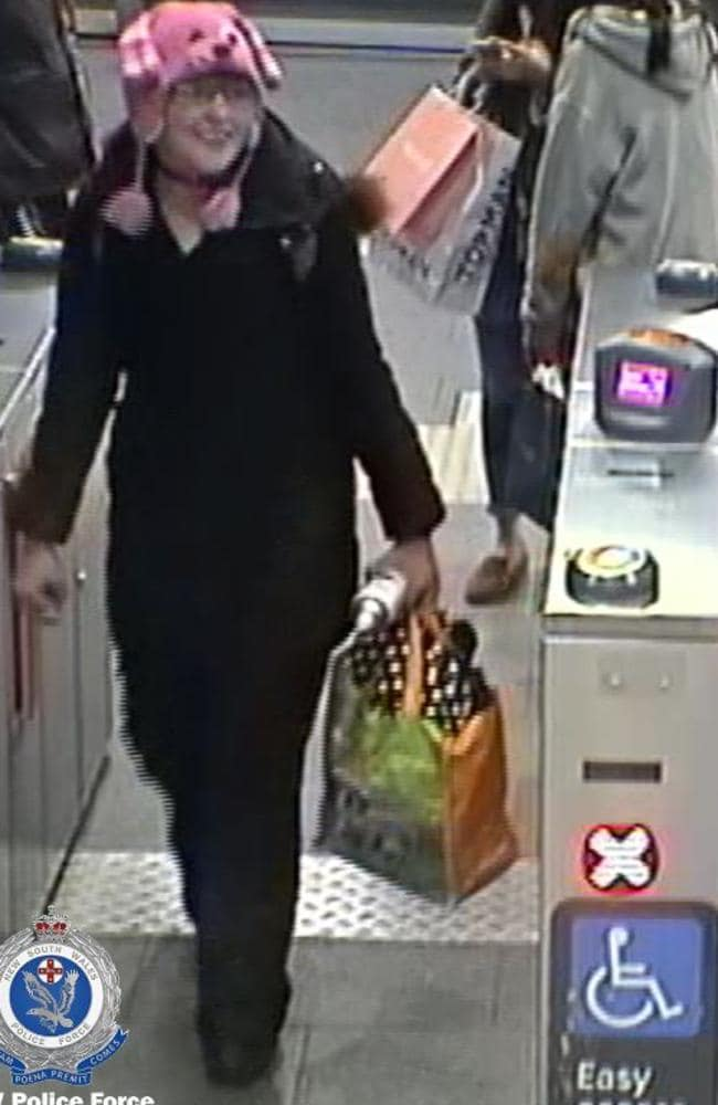 CCTV of Nicole Cartwright (above) who was 32 years old and lived with her parents in far western Sydney.