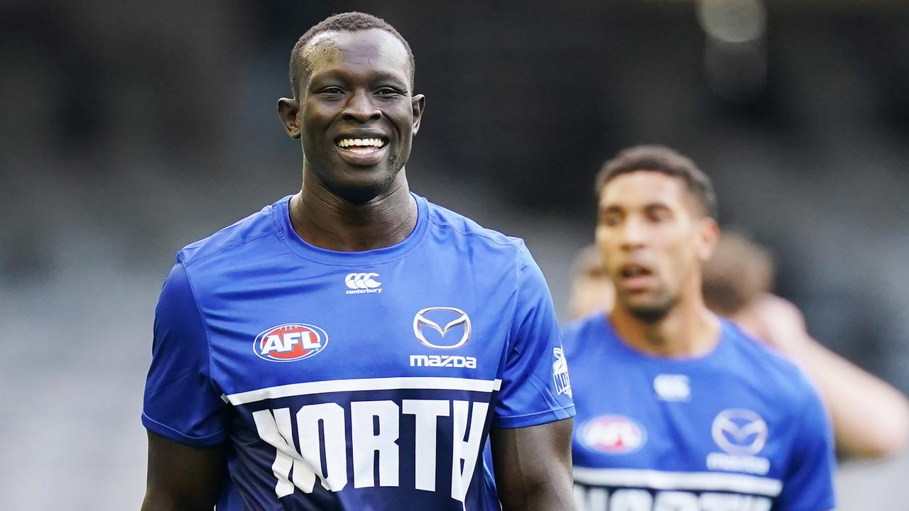 Welcome back, Majak Daw! Picture: Michael Dodge